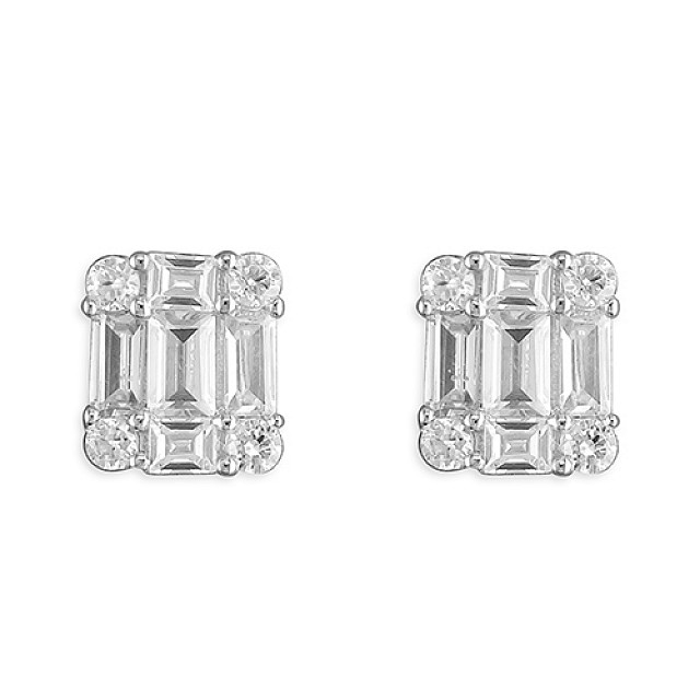 BAGUETTE CZ EARRINGS
