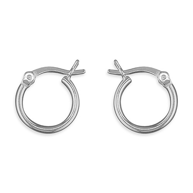 PLAIN 12mm HOOP EARRINGS
