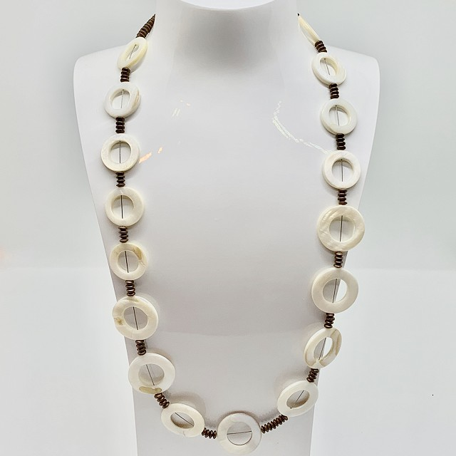 MOTHER OF PEARL AND COPPER NECKLACE