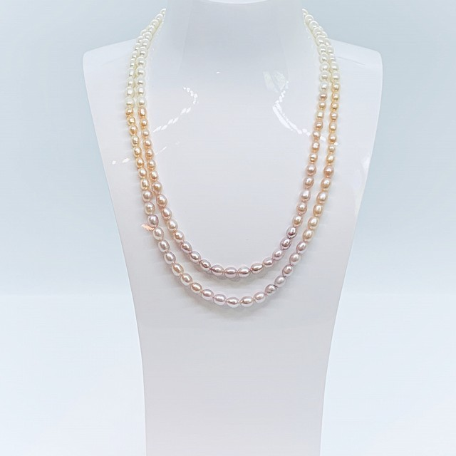 FRESHWATER DOUBLE STRAND PEARL NECKLACE