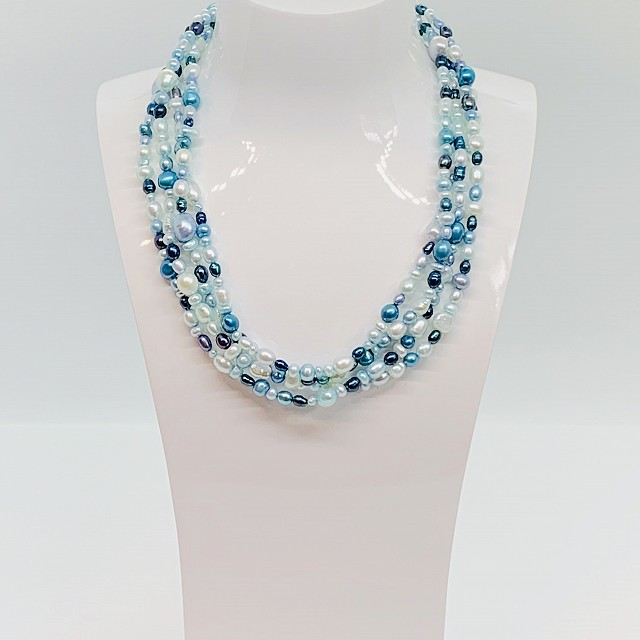 FRESH WATER BLUE PEARL NECKLACE