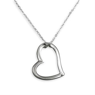 SILVER HEART AND CHAIN