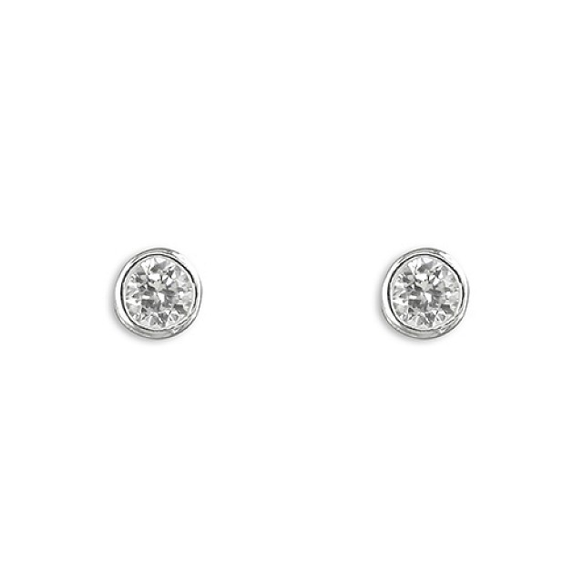 PAVE SET CZ EARRINGS