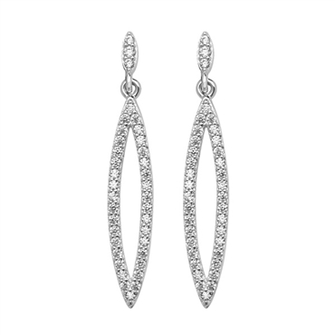 CATS EYES CZ DROP EARRINGS